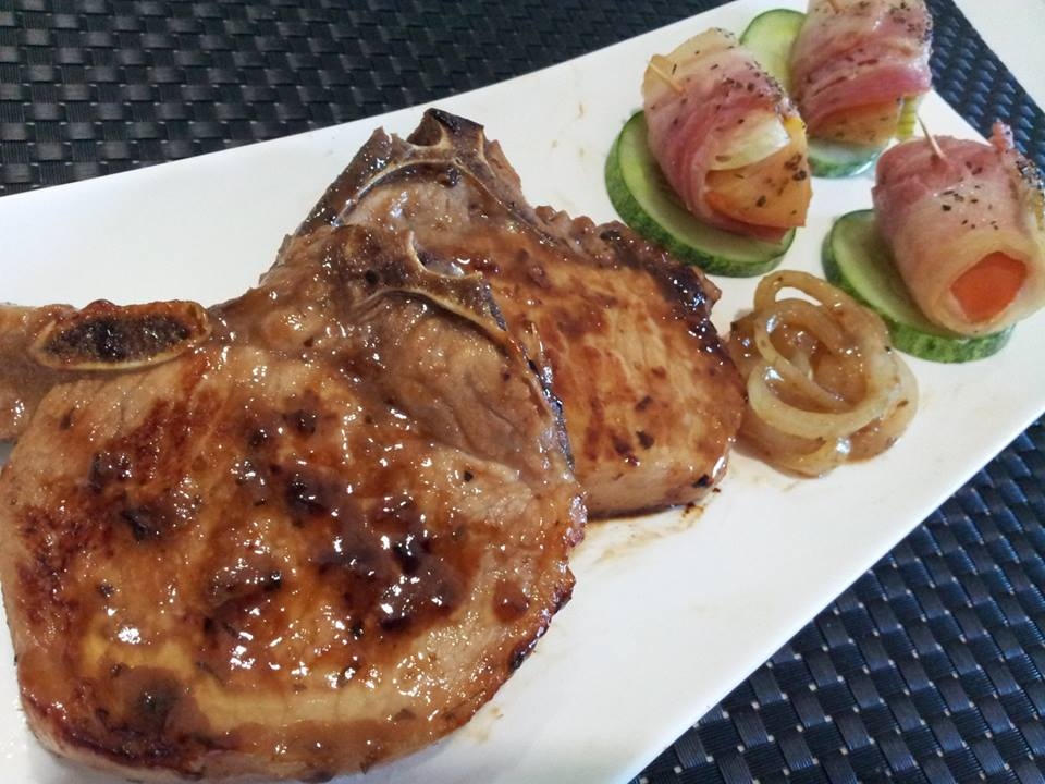 pork chop with red wine marinate and onions red wine and garlic ...