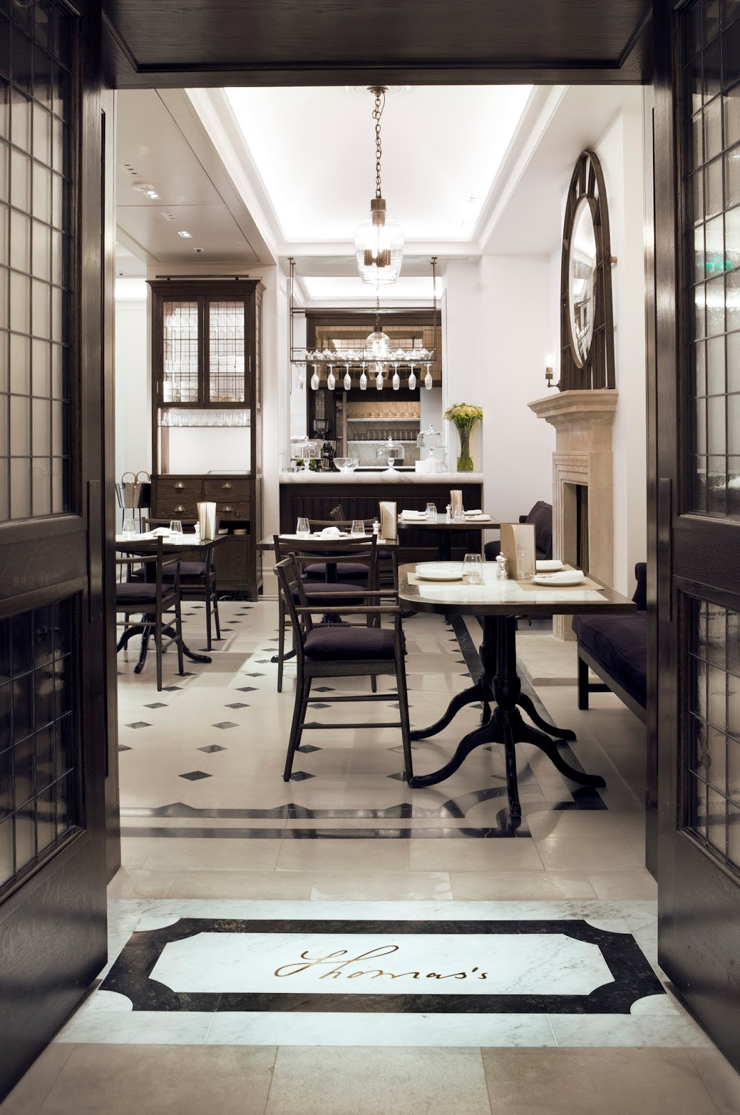 Interior of Thomas's cafe in Burberry Regent Street