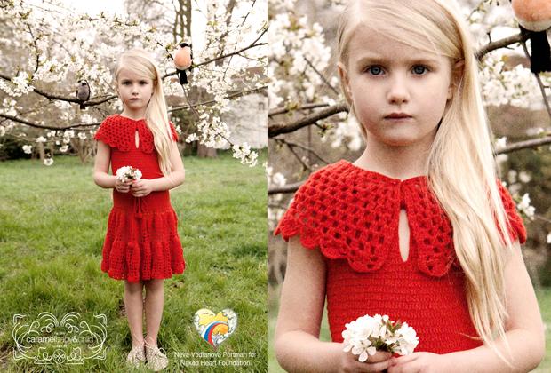 Para sempre Vodianova_Natalia Vodianova_Neva Vodianova_campanha beneficente_Naked HeartFoundation_fundação_Caramel Baby_vestido vermelho