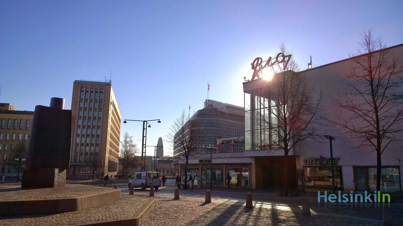 Sunny Helsinki on a weekday morning
