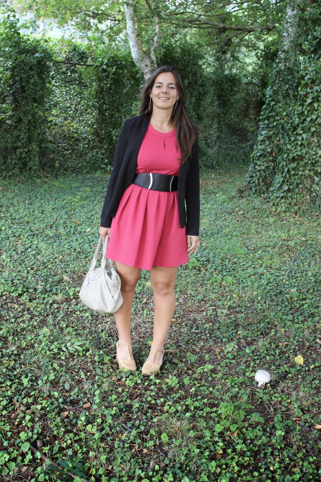 robe kling, chaussures comptoir des cotonniers, veste persunmall