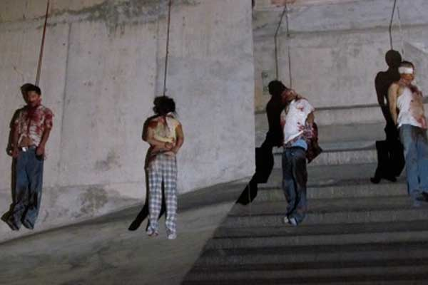 Borderland beat nine bodies found hanging off nuevo laredo bridge