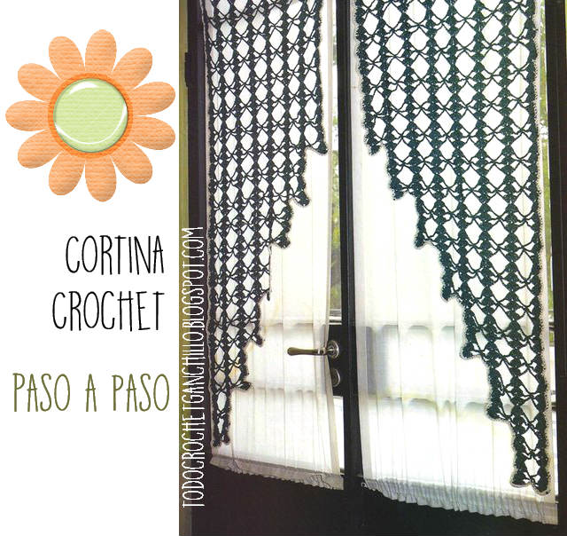 Cortina crochet paso a paso tutorial todo crochet - Cortinas a ganchillo patrones ...