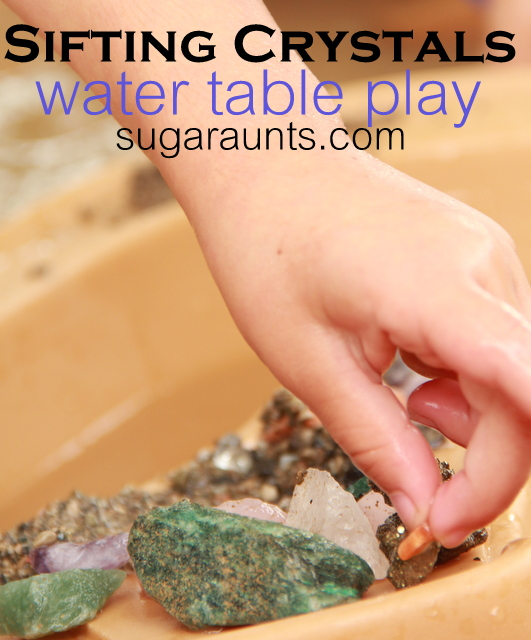 Sifting Crystals Water Table Play