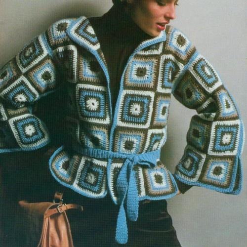 sweter z kwadratow babuni