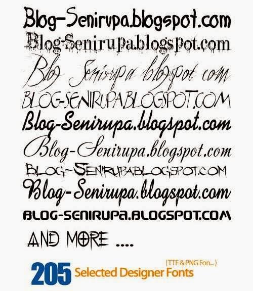 205 Selected Font Designer