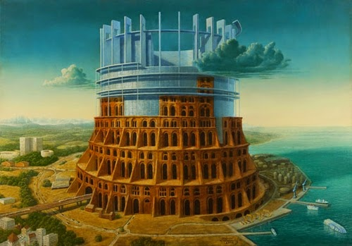 14-Eurobabel-Marcin-Kołpanowicz-Painting-Architecture-in-Surreal-Worlds-www-designstack-co