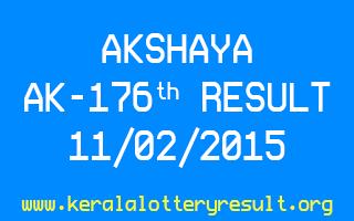 Akshaya Lottery AK 176 Result 11-02-2015