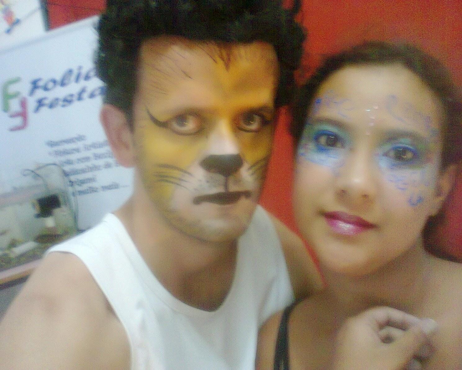 pintura facial Leão e Princesa