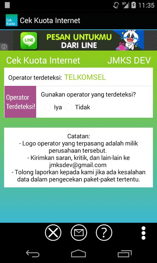 Aplikasi Cek Kuota Internet untuk Android
