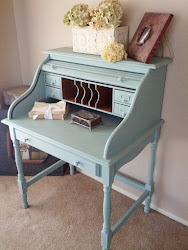 powder blue desk- Sold