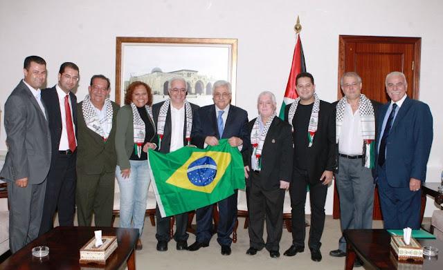Presidente da Palestina recebe delegação brasileira