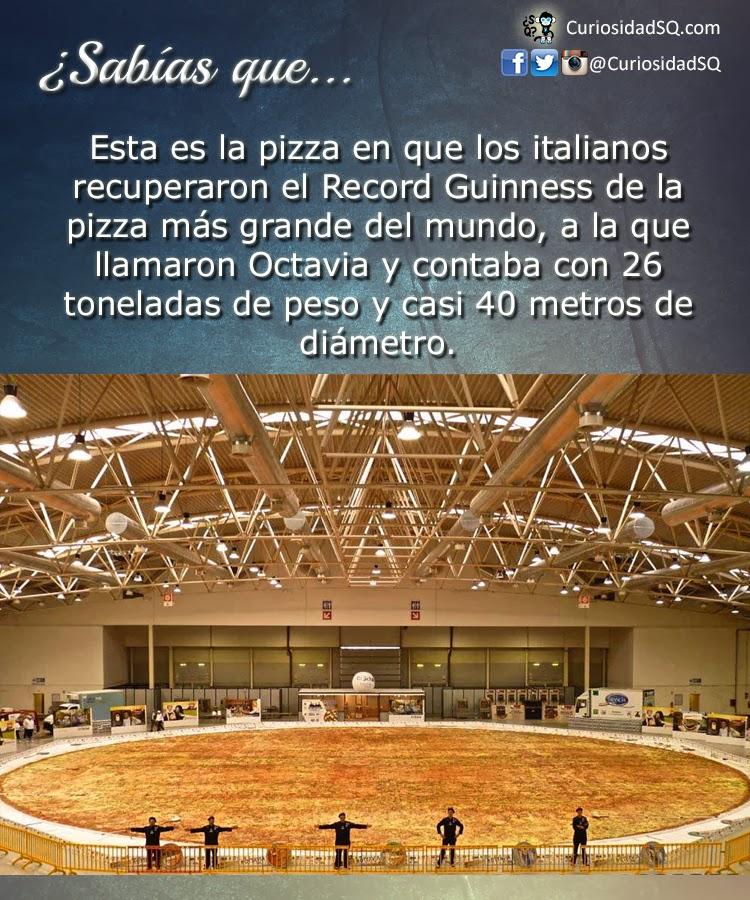 Sab as que esta es la pizza m s grande del mundo con for Mundo pizza la algaba