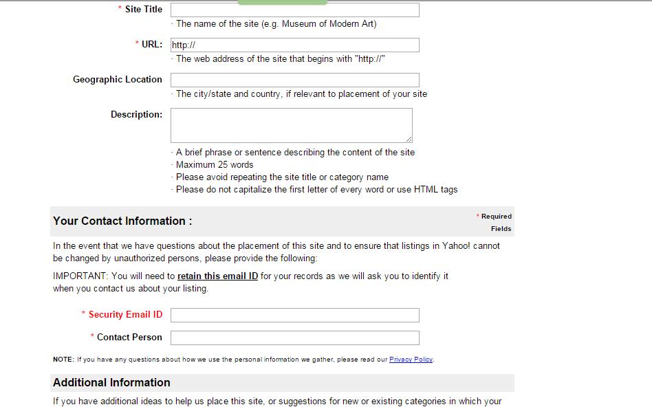 Cara Mudah Daftar Blog Ke Yahoo Directory