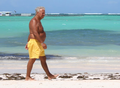 best gay beaches - naked older man