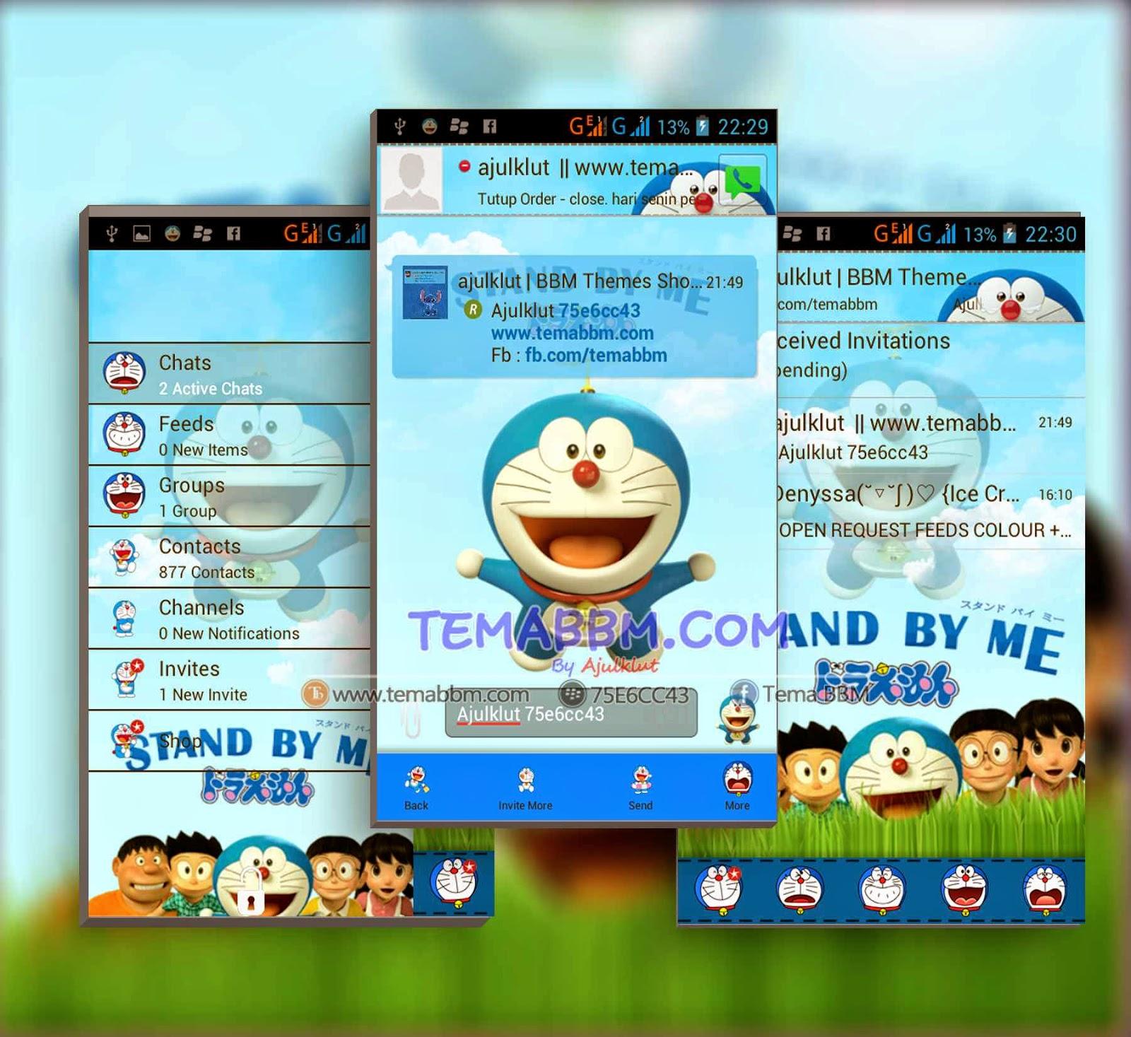 Tema BBM Stand By Me Doraemon