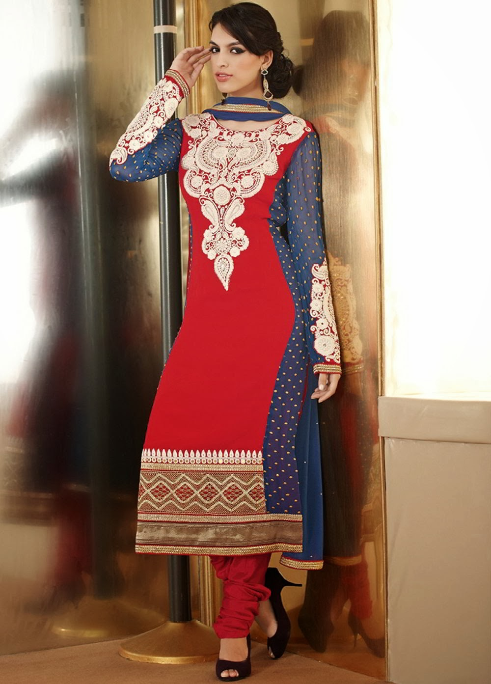 Stylish Anarkali Salwar Kameez Suits 2014 - Fashion Me Now