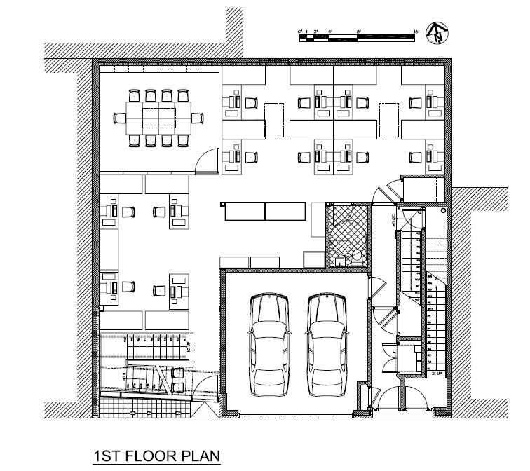 Charming 1st Floor Plan  Drawing © Courtesy Of Minervini Vandermark Architecture Photo