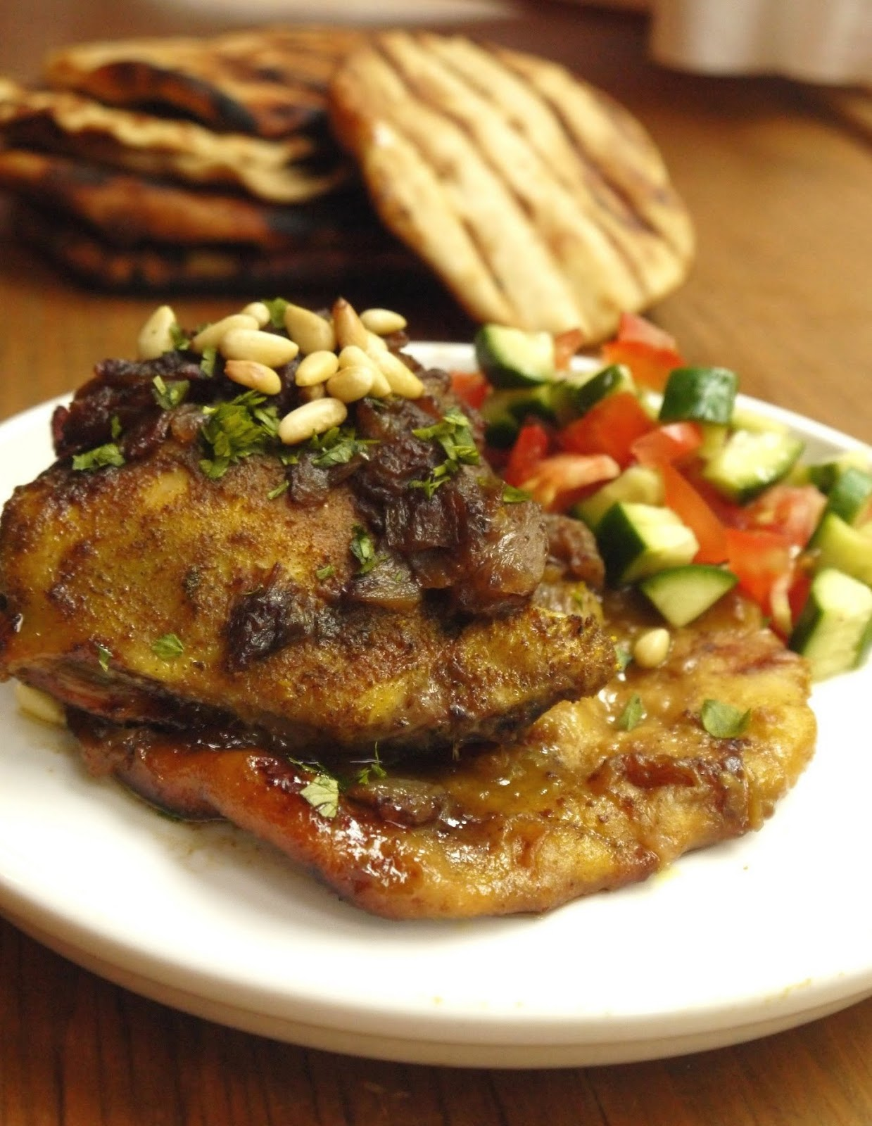 roasted sumac chicken atop sumac chicken roasted over plate chicken ...