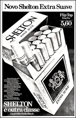 cigarros Shelton, Philip Morris;  propaganda anos 70; história decada de 70; reclame anos 70; propaganda cigarros anos 70; Brazil in the 70s; Oswaldo Hernandez;