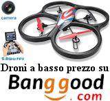 Droni con camera e FPV al prezzo più basso da Bangood
