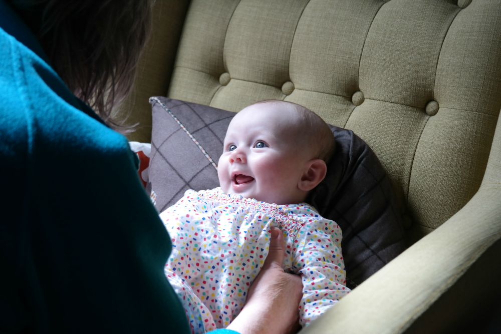Matilda Rooftops: Style Icon (3-6 month edition) - Spotty Smock