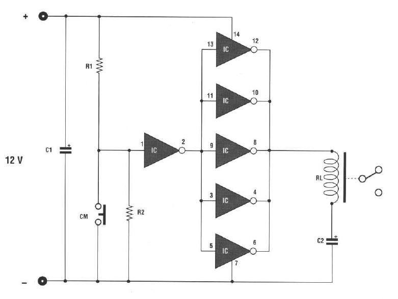 schema electronique gratuit montage automatisme pour sonnerie de porte alarme. Black Bedroom Furniture Sets. Home Design Ideas