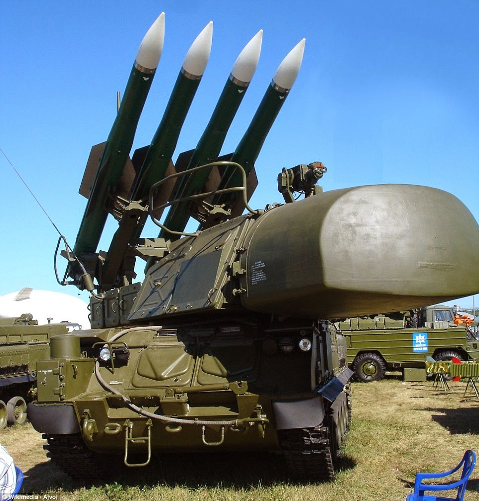 senjata anti pesawat BUK.