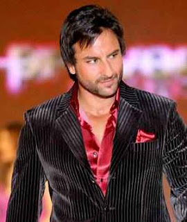 saif ali khan black shirt