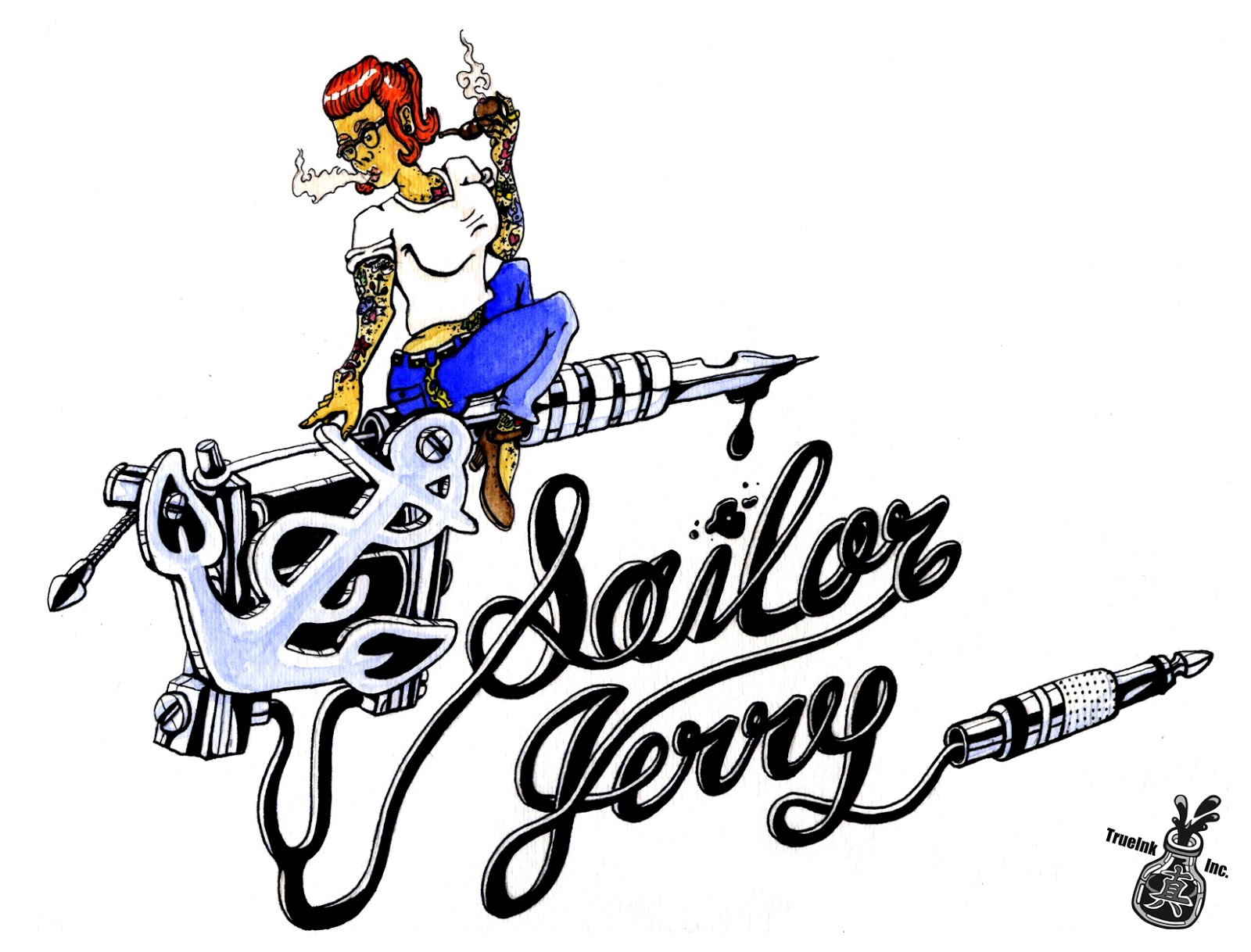 Trueink incorporated sailor jerry pin up for Sailor jerry pin up tattoos