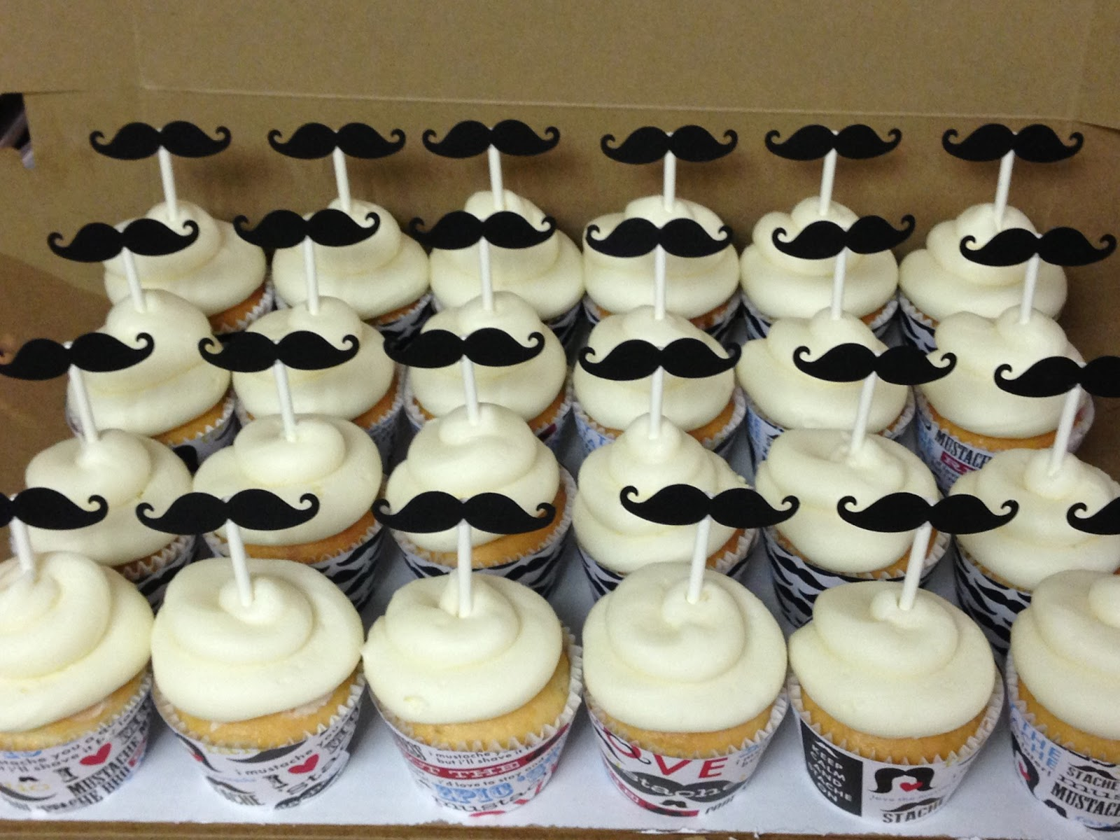 Cakes By Mindy Mustache Cupcakes