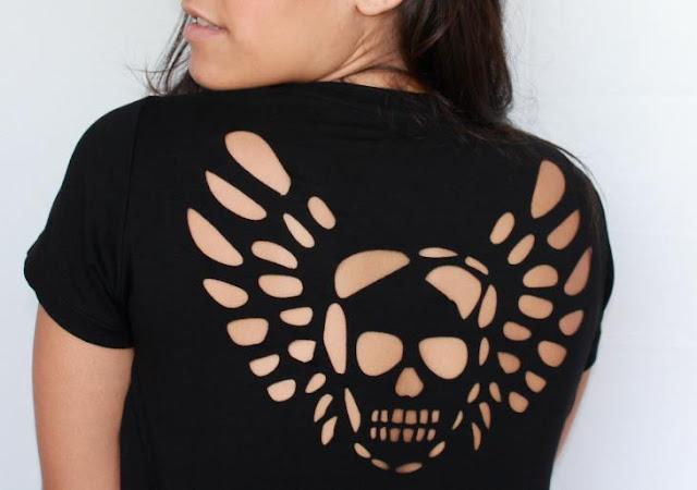 Camiseta ou blusa de caveira - 8