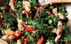 Weight Loss Recipes : Gingered Chicken and Greens Stir-Fry