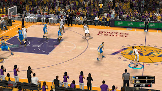 NBA 2K13 Staples Center Court Patch