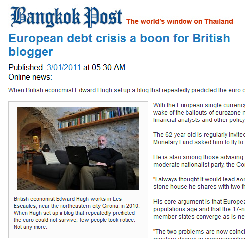 European Debt Crisis A Boon For Blogger