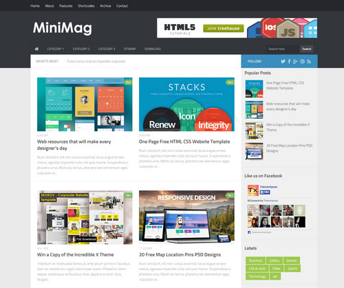 Mini Magazine Template - Best Free Blogger Templates