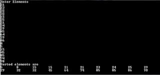 Program for merge sort in c