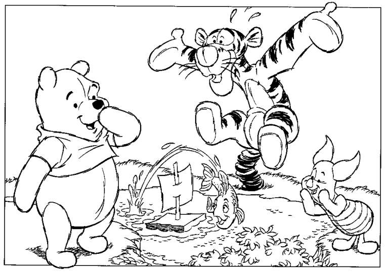 cartoons coloring pages winnie the pooh and tigger