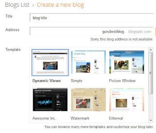 how to create blogspot website