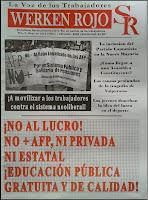 Periódico WERKEN ROJO n° 2  LA VOZ DE LOS TRABAJADORES