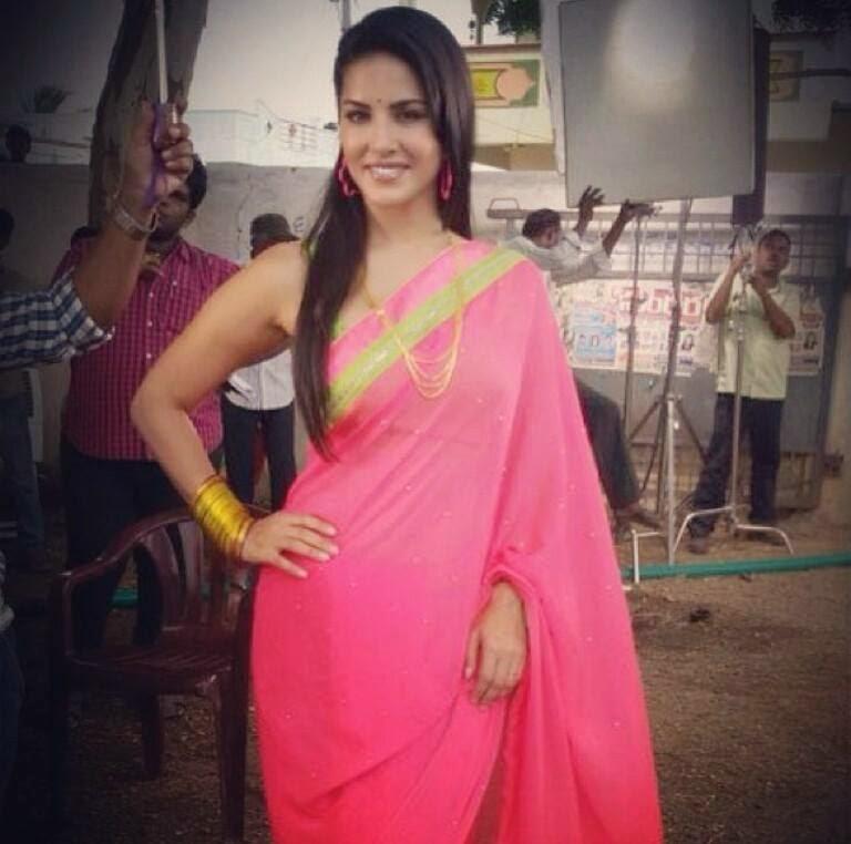 Sunny Leone Hot in Saree Navel Queens