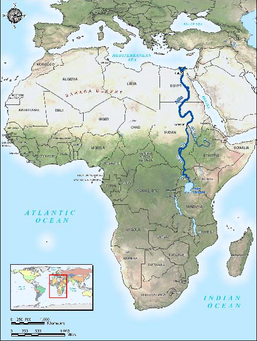 Ancient Egypt The Nile River Lessons Tes Teach - Nile river location on world map