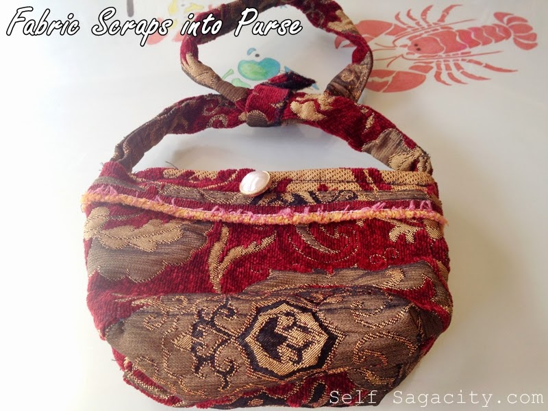 purse made from fabric scraps
