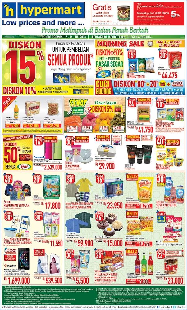 Katalog Hypermart Weekend Promo Terbaru update 12 – 14 Juli 2013