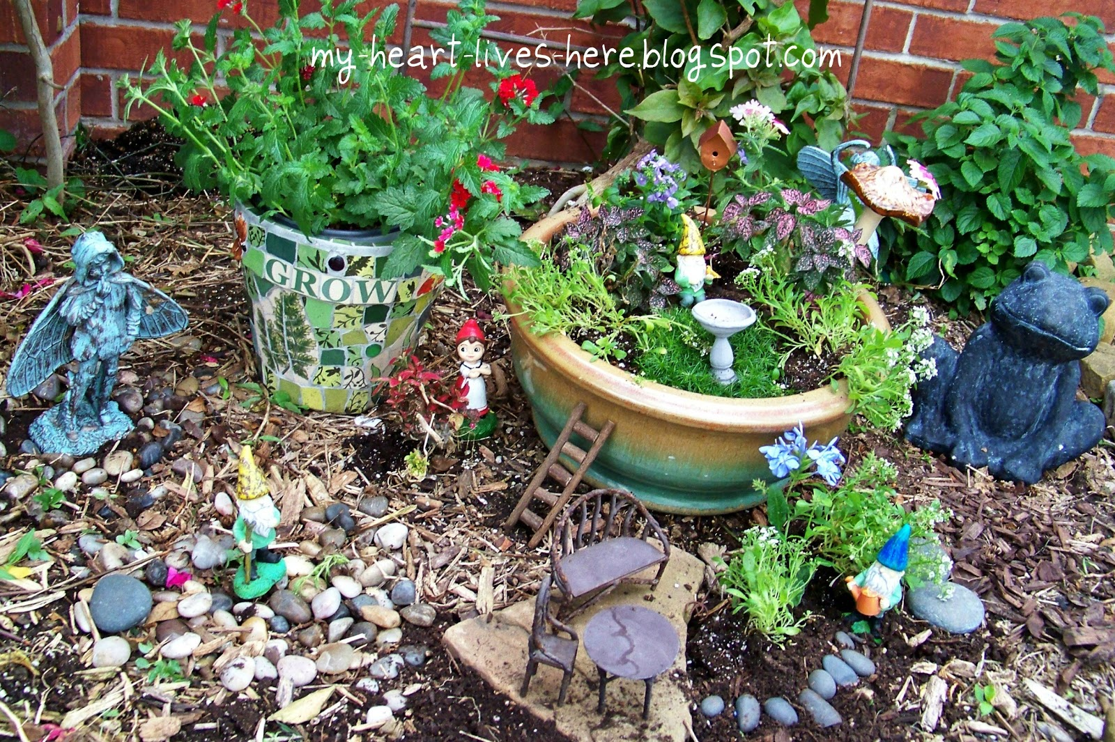 March 2012 my heart lives here for Fairy garden images