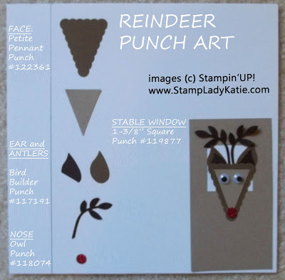 Instructions for making a punch art reindeer