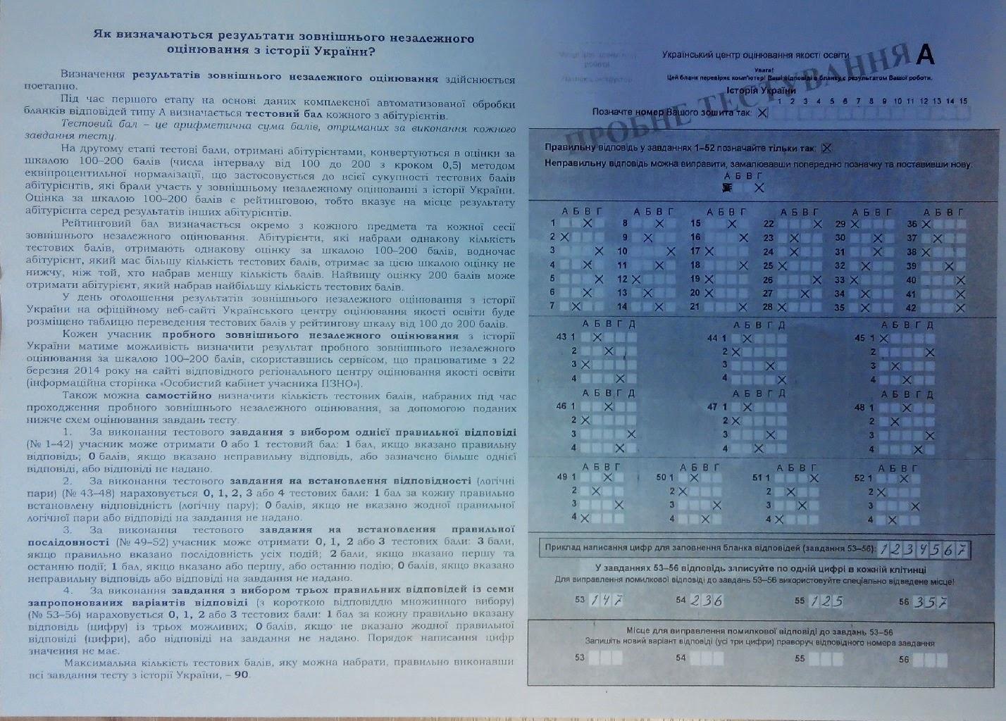 Онлайн тесты и решения тестовых заданий внешнего независимого оценивания ( зно) за 2013 год