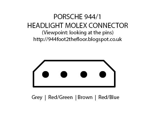 944 foot to the floor how to troubleshoot porsche 944 headlight rh 944foot2thefloor blogspot com  1967 corvette headlight motor wiring diagram