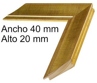 Moldura de madera color dorado