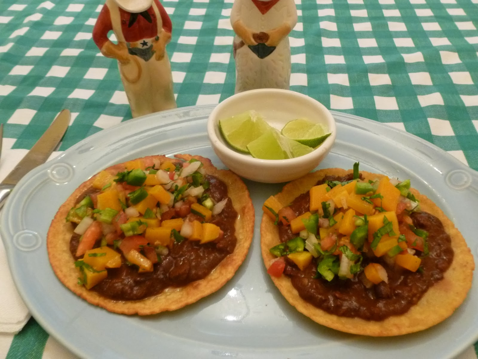 ... Sauces: Mole Black Bean Tostadas with Butternut Squash Pico de Gallo